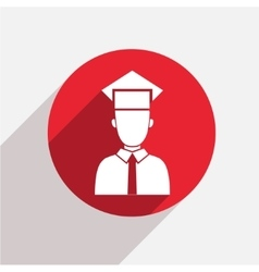 modern student red circle icon vector image