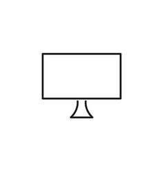monitor line icon vector image