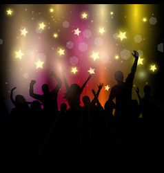 party audience on starry background vector image