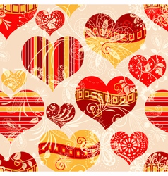 Pink seamless valentine pattern vector image vector image