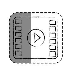 play button film isolated icon vector image