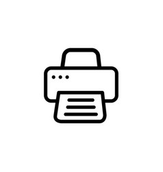 printer line icon in flat style for apps ui vector image