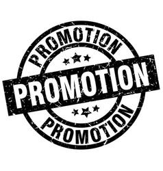 Promotion round grunge black stamp vector