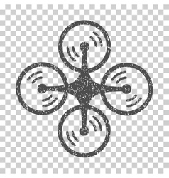 Quadcopter Screw Rotation Grainy Texture Icon vector