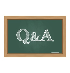 questions and answers text on chalkboard vector image