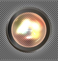 Realistic bulb light vector