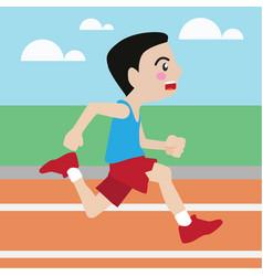 running athletic sport cartoon set vector image