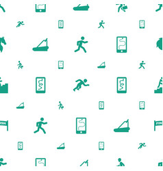 Running icons pattern seamless white background vector