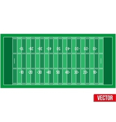 Sample football field in a simple outline vector
