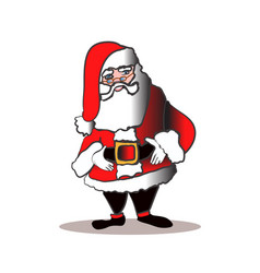 santa claus in glasses with smile isolated on vector image