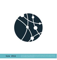 Science logo network icon template design eps 10 vector