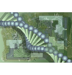 Scientific background with dna vector