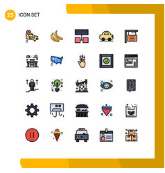 Set 25 modern ui icons symbols signs for chair vector