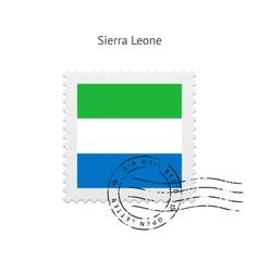 Sierra Leone Flag Postage Stamp vector