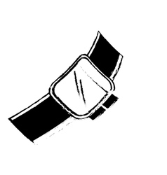 sketch smart watch wearable technology digital vector image