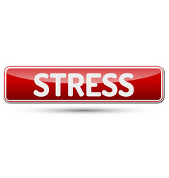 Stress - abstract beautiful button with text vector