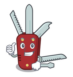 Thumbs up penknife in a character shape vector