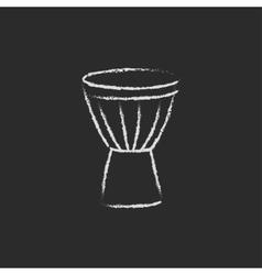 Timpani icon drawn in chalk vector image