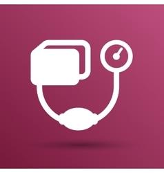 Tonometer flat Icon Blood Pressure Checker vector