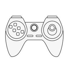 video game controller icon image vector image
