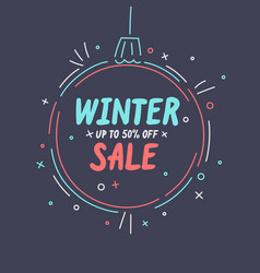 winter sale banner original poster for discount vector image