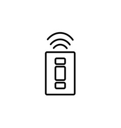 wireless car key icon vector image