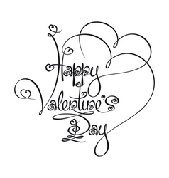 Caligraphic Text Happy Valentines Day vector image vector image