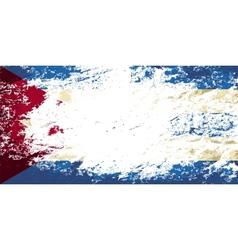 Cuban flag Grunge background vector image