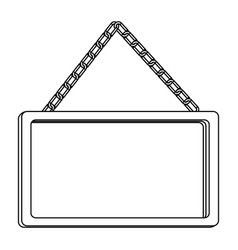 figure square painting frame icon vector image