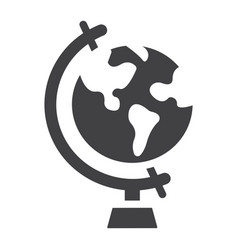 globe solid icon world and geography vector image