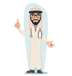 quality treatment arab keffiyeh traditional vector image