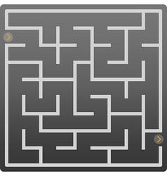 small gray labyrinth vector image vector image