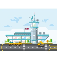 Airport Modern Flat Design vector image vector image