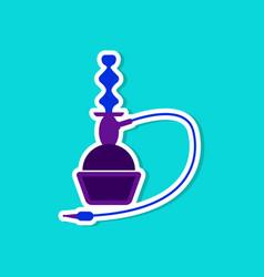 Paper sticker on stylish background of smoke vector