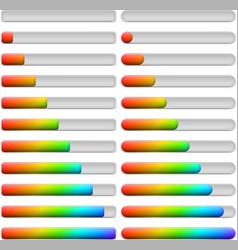Progress bars set vector image