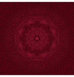 Round lace ornaments on background with seamless vector image
