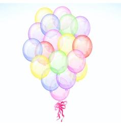 Big bunch transparent balloons vector image