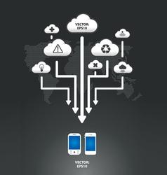 cloud infographic arrow graph vector image vector image