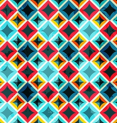 grunge colored mosaic seamless pattern vector image vector image