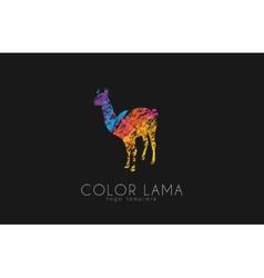 Lama logo Color lama logo design Creative logo vector image vector image