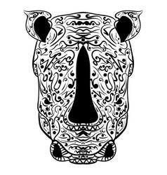 rhino head zentangle stylized vector image vector image