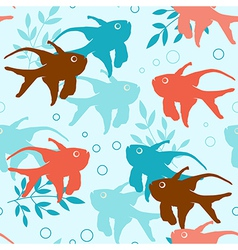 seamless pattern with tropical fishes vector image vector image