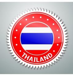Thai flag label vector image