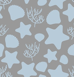 Underwater world seamless pattern Silhouettes of vector image