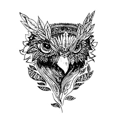 Abstract graphic owl print vector image
