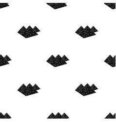 egyptian pyramids icon in black style isolated on vector image