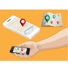 mobile and checkpoint vector image