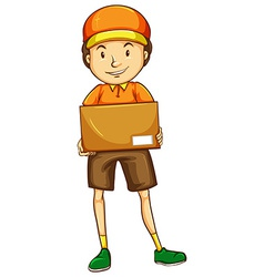 A sketch of a postman vector image