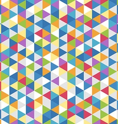 Abstract background of color triangles seamless vector image