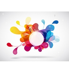 Abstract colored background with circle vector image